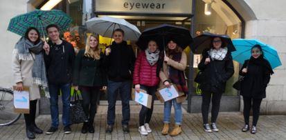 Die IR Blind Date Teilnehmer trotzen dem Regen mit guter Laune!